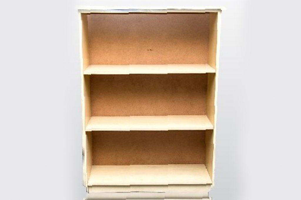 3 tier open bookshelf 1