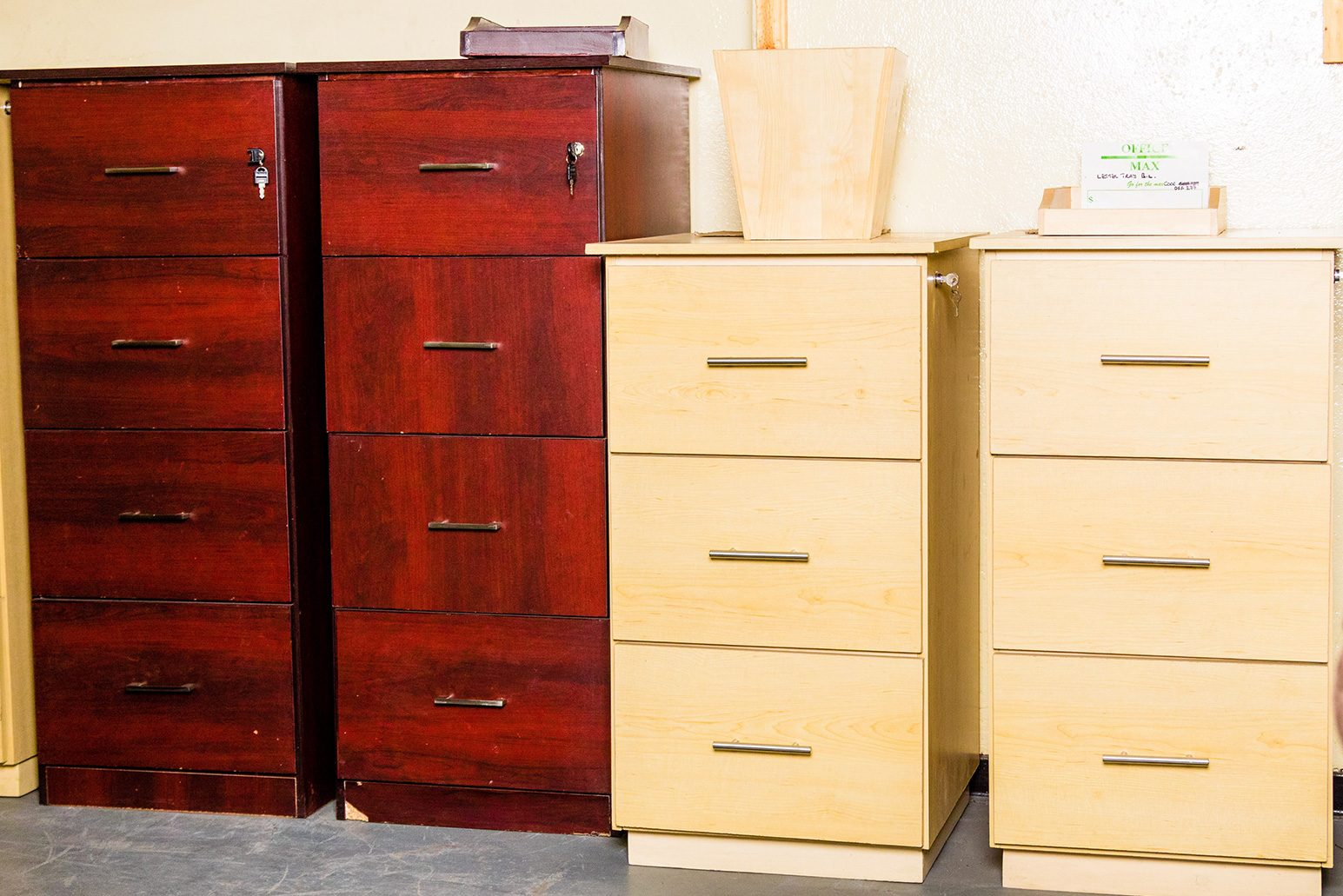3-&-4-DRAWER-WOODEN-FILING-CABINETS